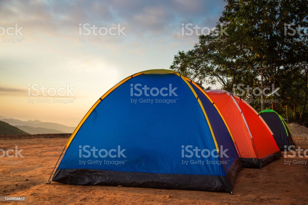 Camping Nature Mountain Background Stock Photo - Download Image Now