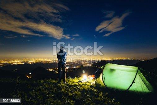istock Camping night 505438963