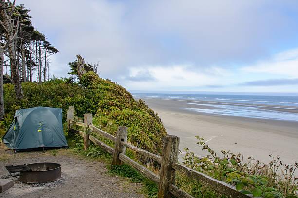 Camping on Kalaloch Campground, Pacific Coast, Washington USA – Foto