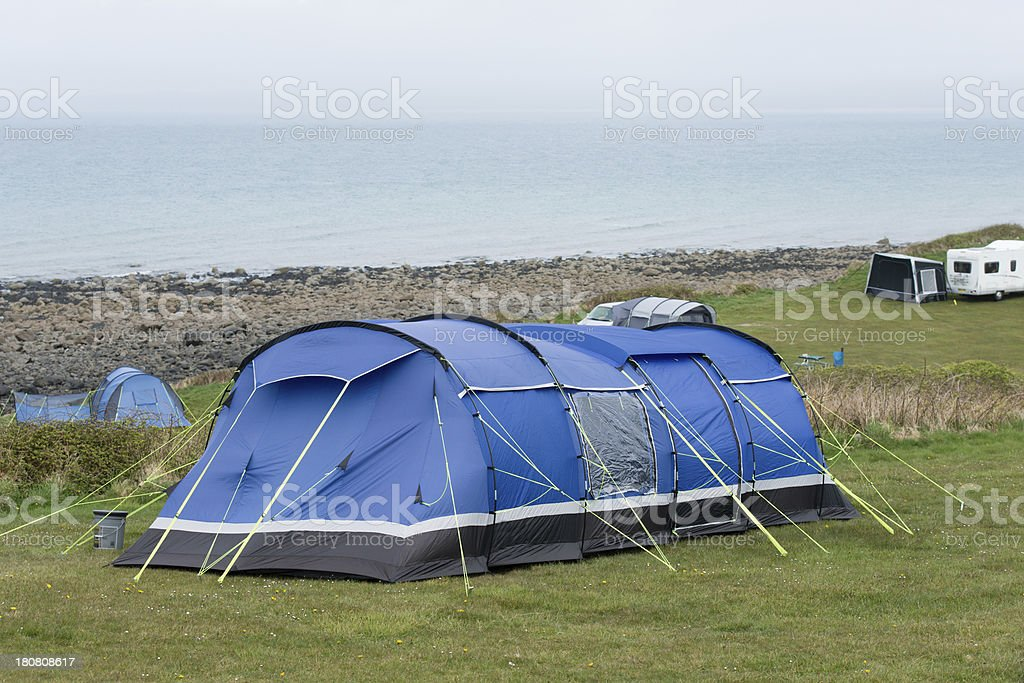 Camping on the edge royalty-free stock photo