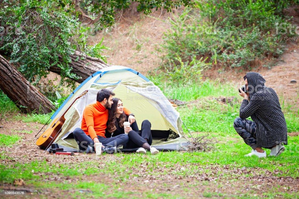 Kamp fotoğrafçı stok fotoğrafı