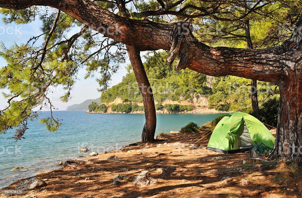 Camping stok fotoğrafı