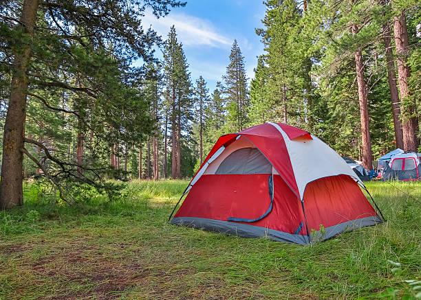 Camping stock photo