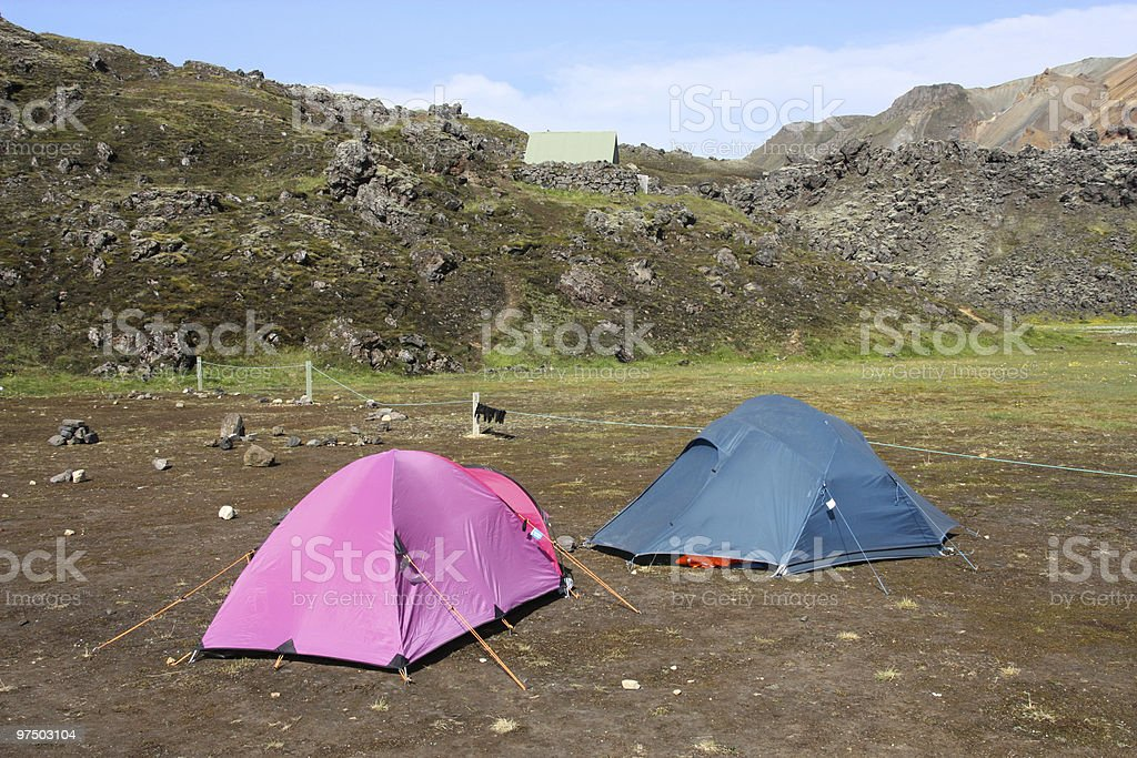 Camping royalty-free stock photo