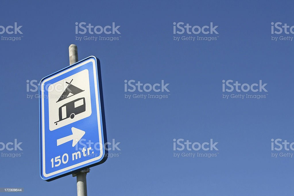 Camping sign # 2 royalty-free stock photo