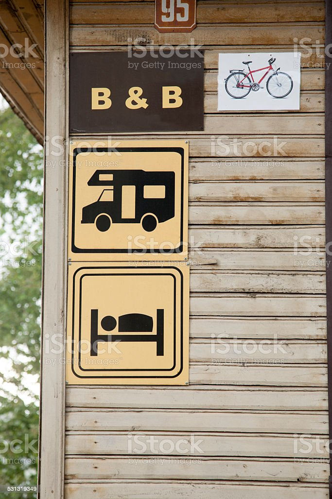 Camping Signs stock photo