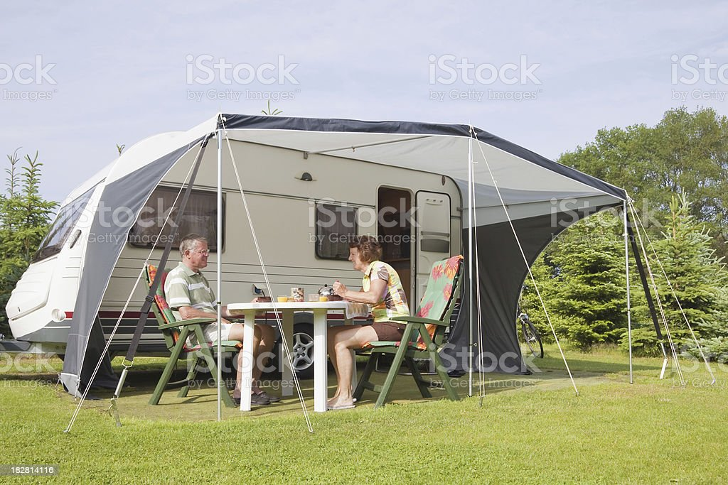 Camping site # 47 XL stock photo