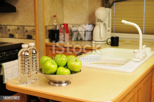 Healthy snack on kitchen or galley counter in RV