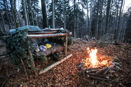 Camping Spot in Wilderness - Stock Photo