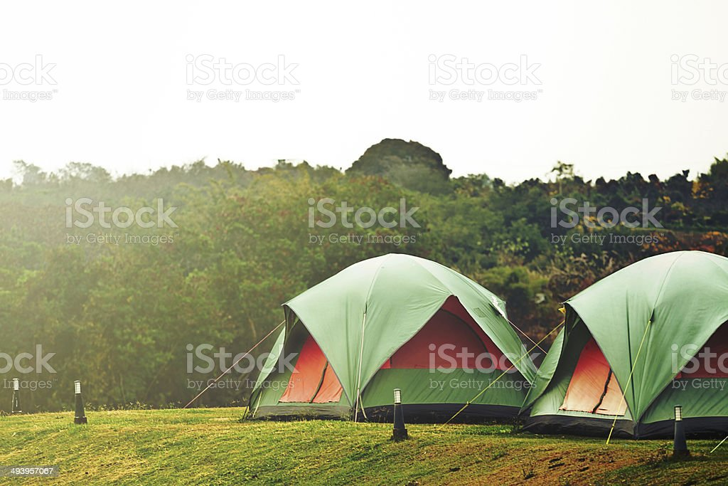 Camping tent - Royalty-free Camping Stock Photo
