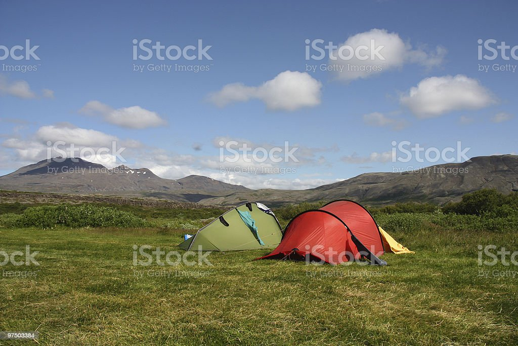 Camping tents royalty-free stock photo