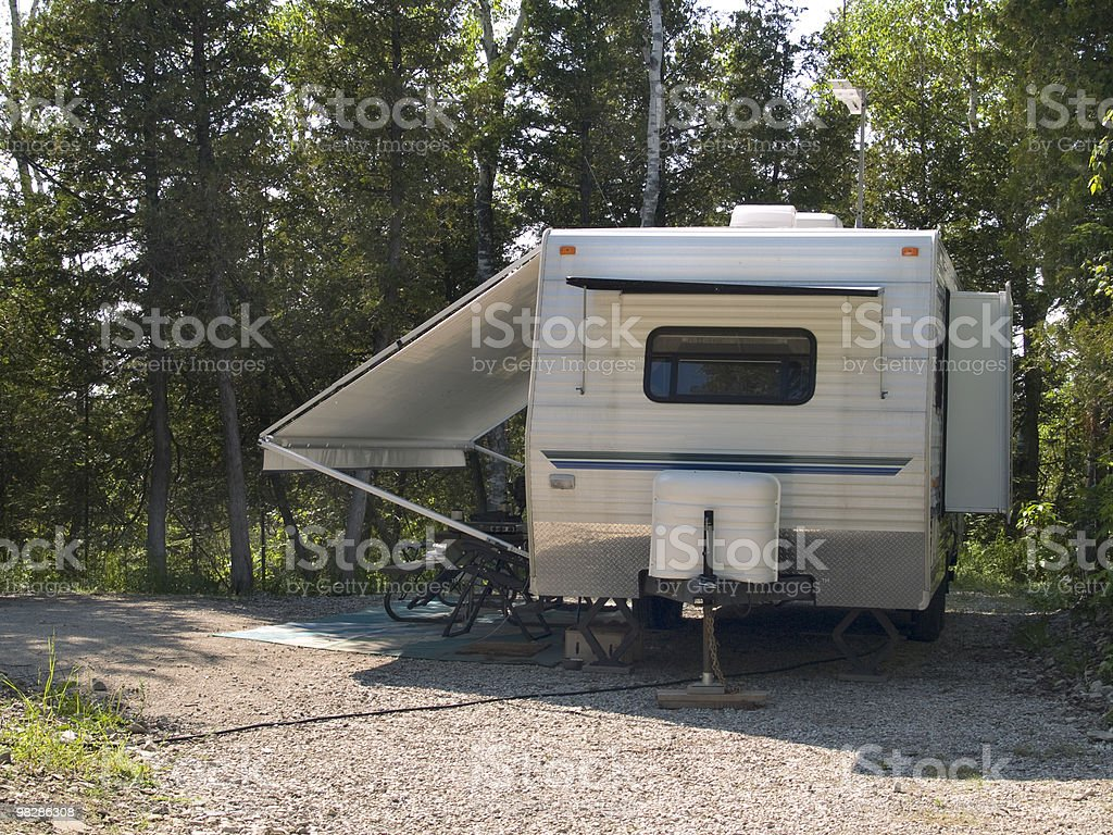 Camping Trailer royalty-free stock photo