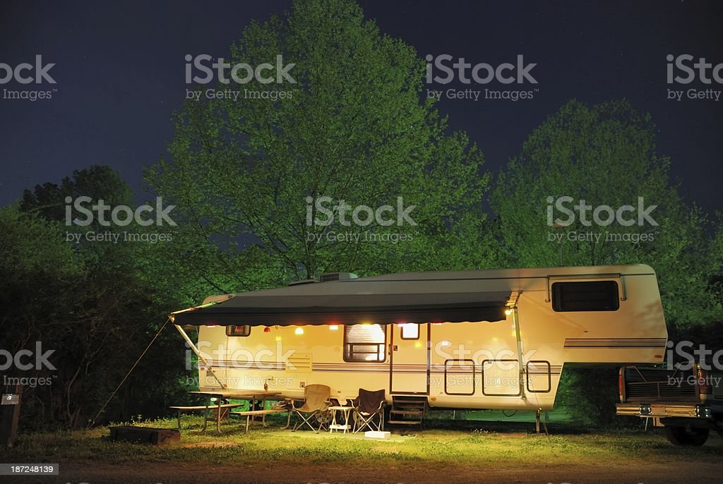 Camping under Stars stock photo