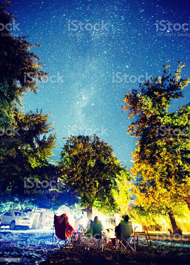 Camping under the Milky Way royalty-free stock photo