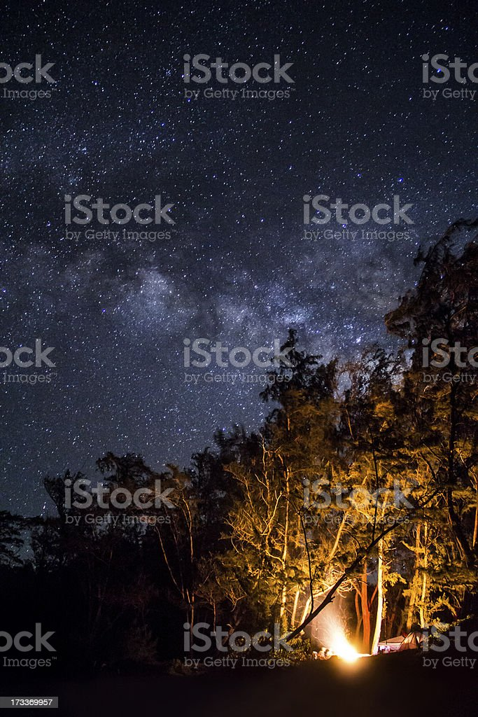 Camping under the stars royalty-free stock photo