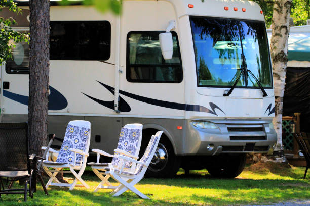 RV Camping Vacations stock photo