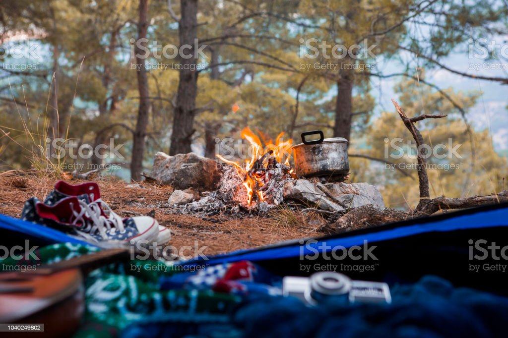 Camping View stock photo