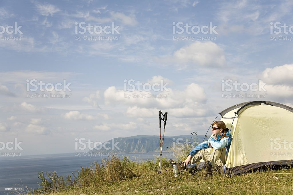 Camping. XL size royalty-free stock photo