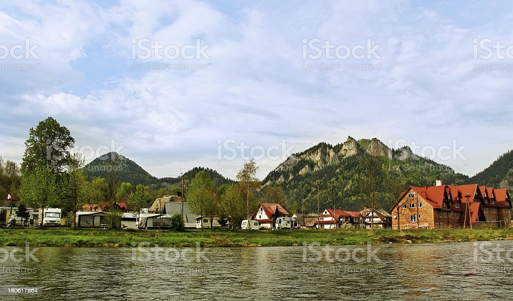 Campings at the Pieniny mountains. royalty-free stock photo
