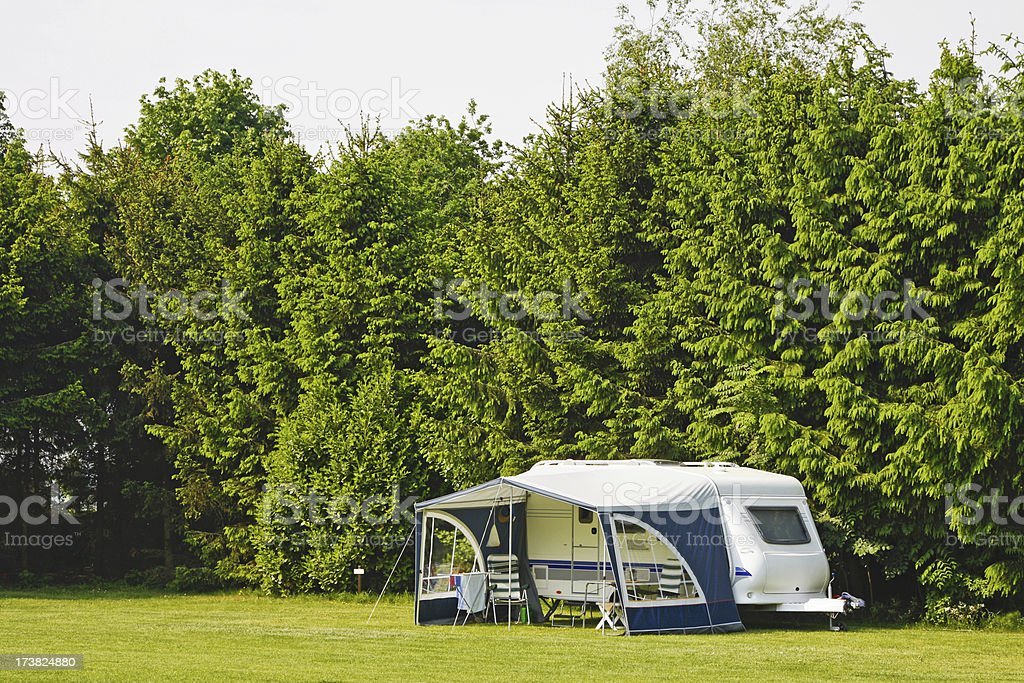 Campingsite # 25 XL royalty-free stock photo