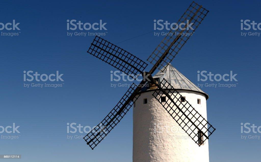 Campo de Criptana windmill stock photo