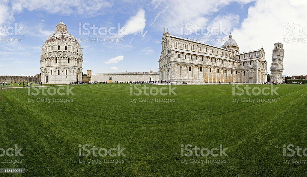 Campo Dei Miracoli panorama, Pisa, Italy stock photo
