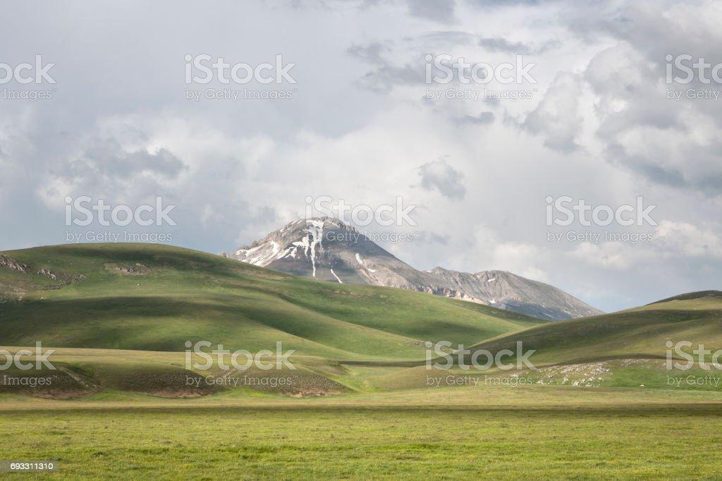 Campo Imperatore, Abruzzi Italy stock photo