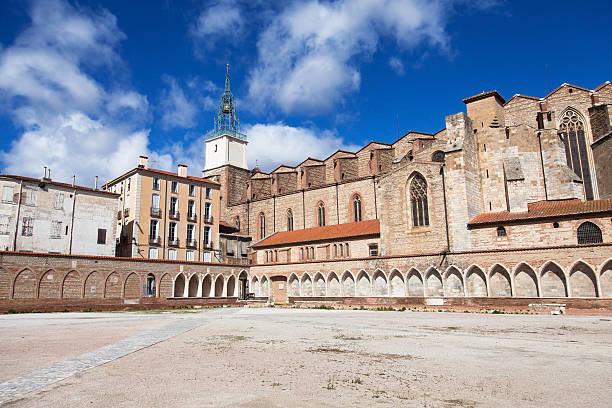 Campo Santo of Perpignan stock photo