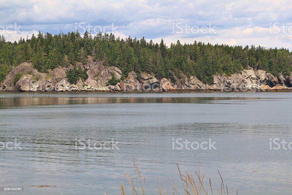Campobello Island Rock structure of coastline stock photo