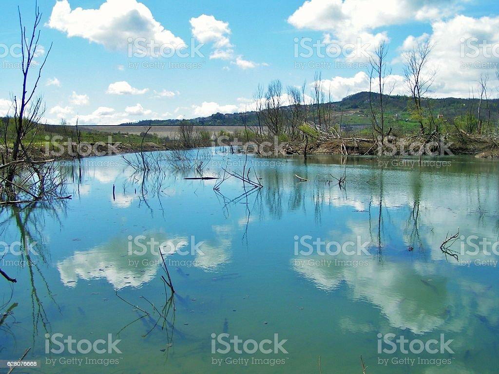 Campolattaro - Panorama dell'invaso stock photo