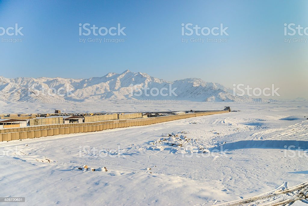 Camps, base, militaire, Afghnistan, otan stock photo