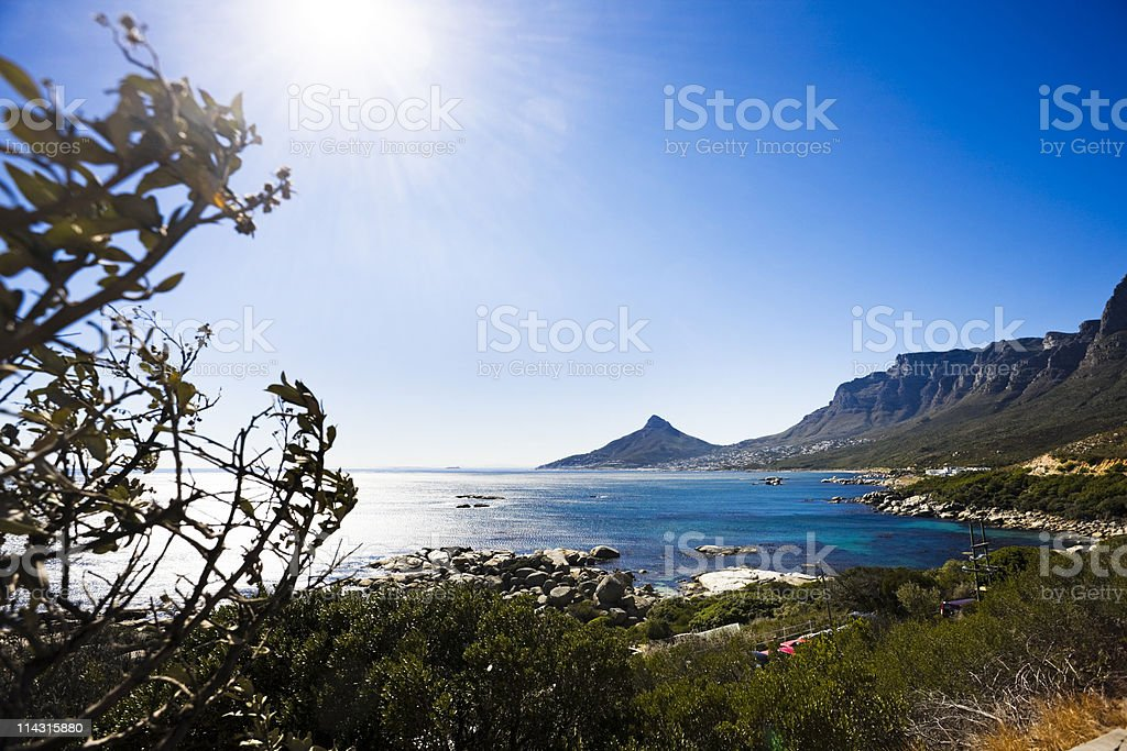 Camps Bay and Oudekraal, Cape Town. royalty-free stock photo