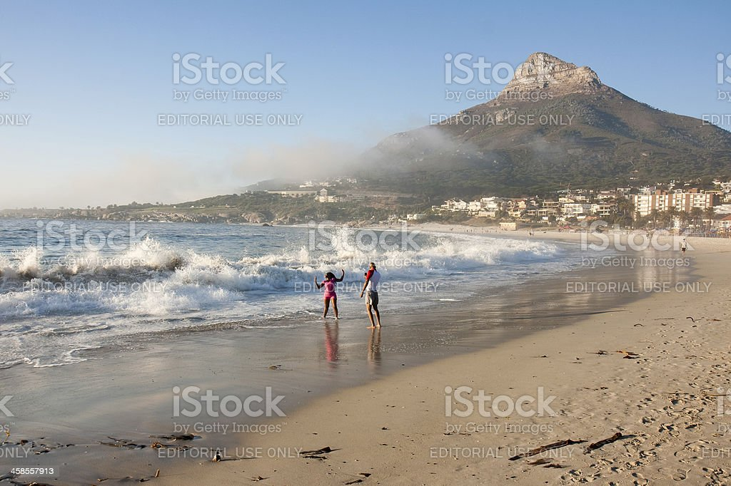 Camps Bay beach, Cape Town royalty-free stock photo