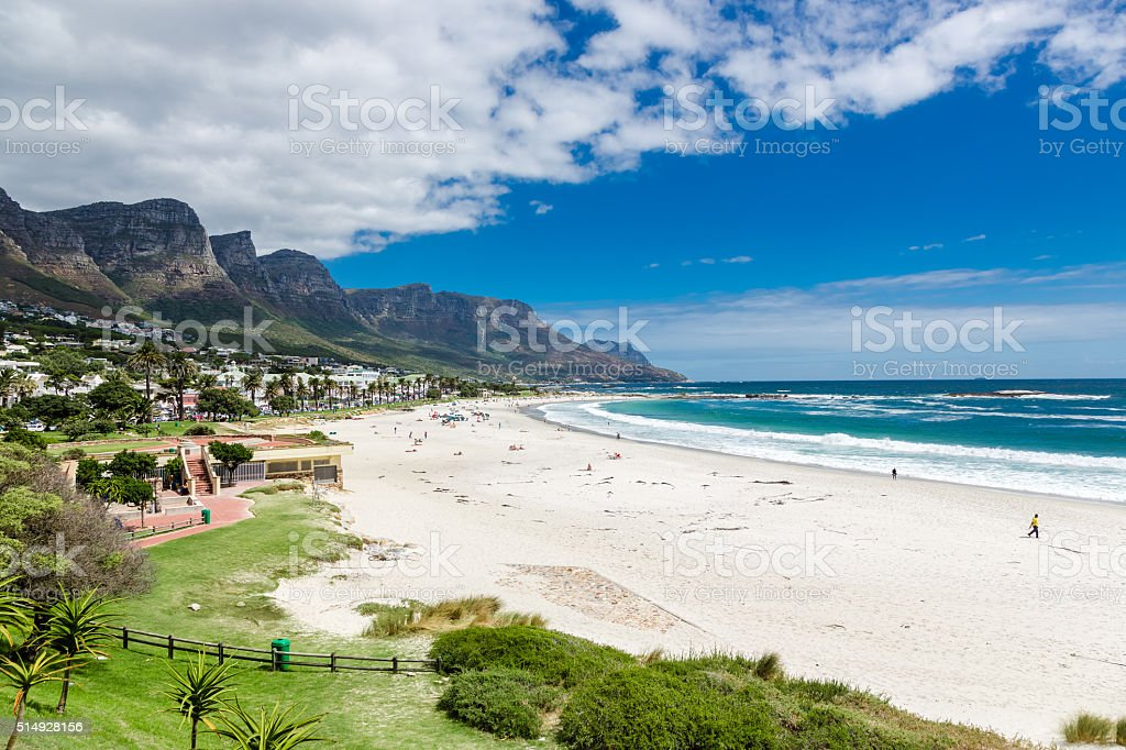 Camps Bay beach, Cape Town, South Africa stock photo