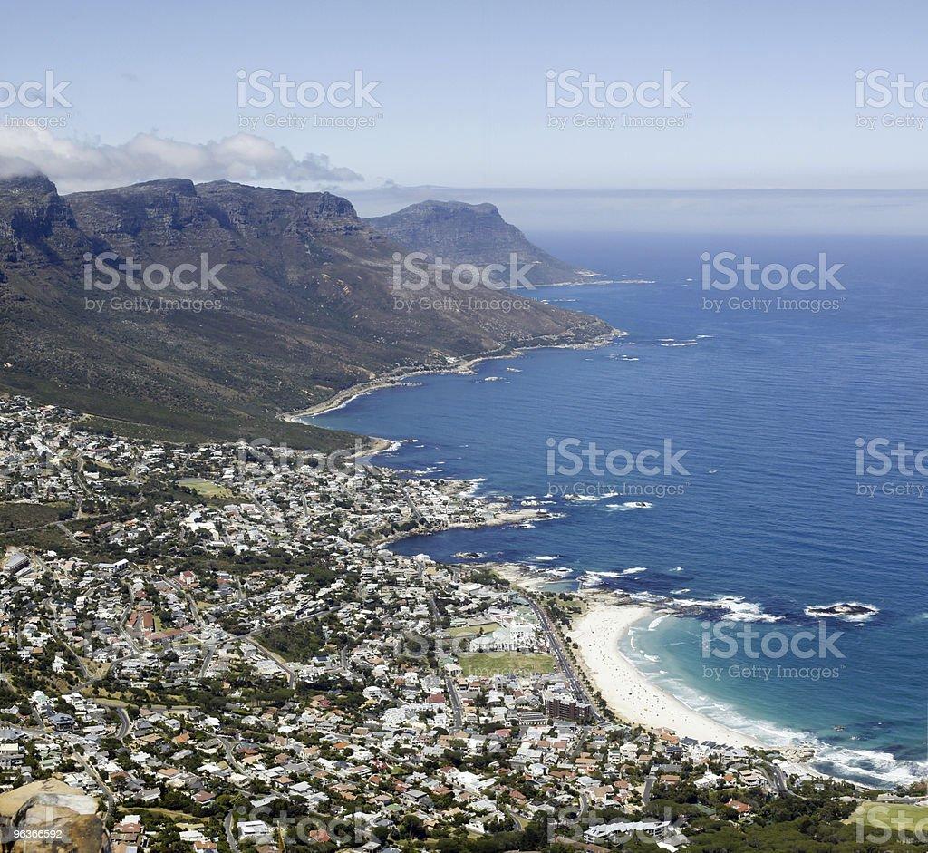 Camp's Bay Beach near Cape Town royalty-free stock photo