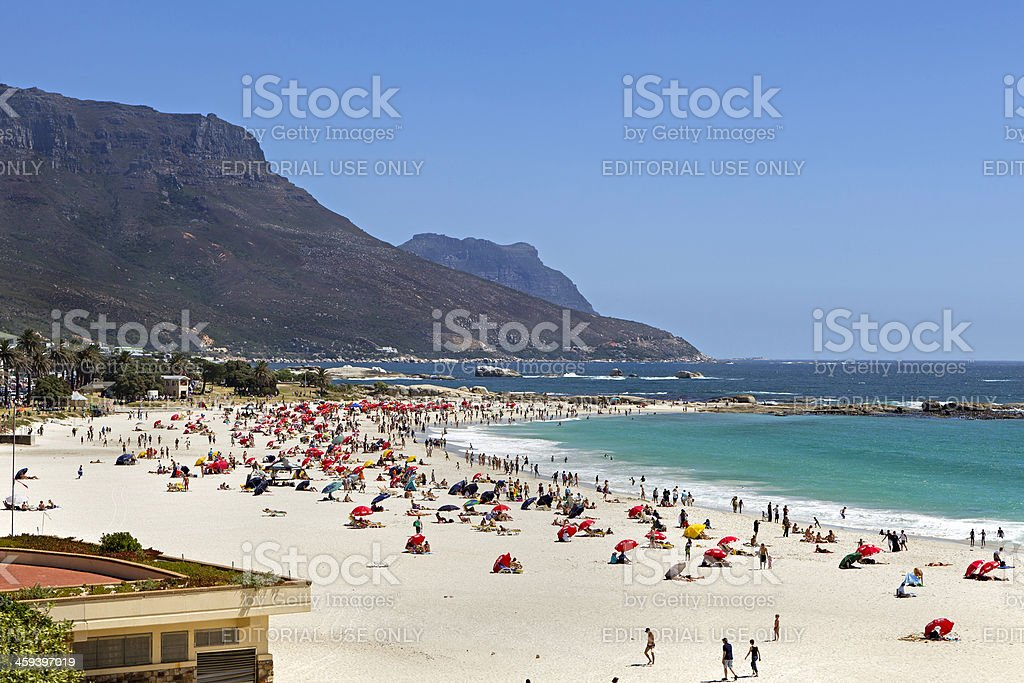 Camps Bay beach royalty-free stock photo