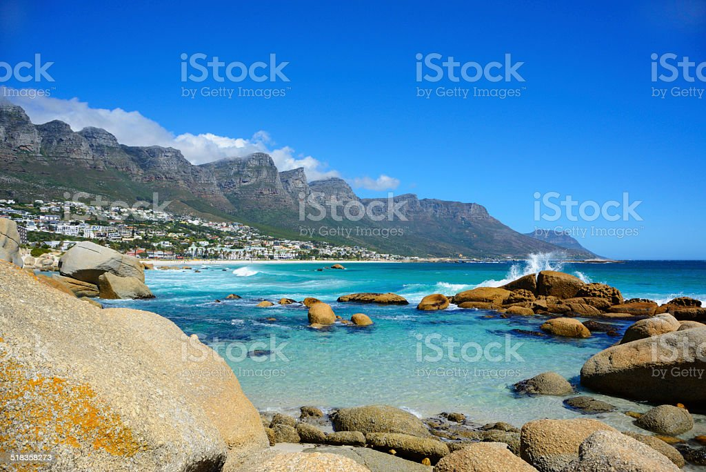 Camps Bay Beach stock photo