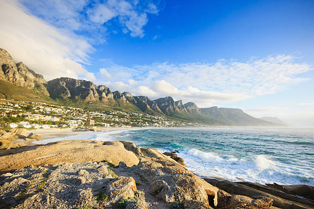 Camps Bay Beach Table Mountain Cape Town South Africa stock photo