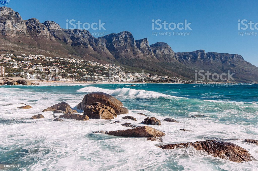 Camps Bay, Cape town South Africa stock photo