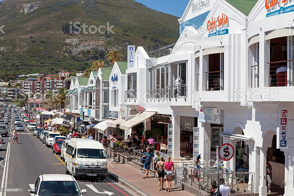 Camps Bay in Cape Town royalty-free stock photo