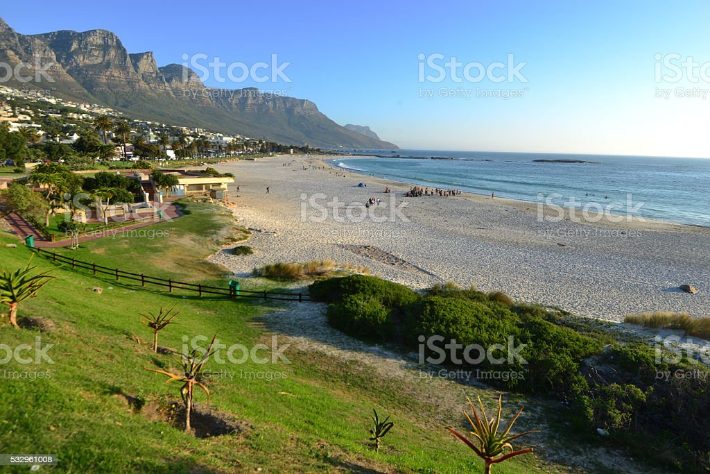 Camps Bay In South Africa On The Western Cape Stock Photo