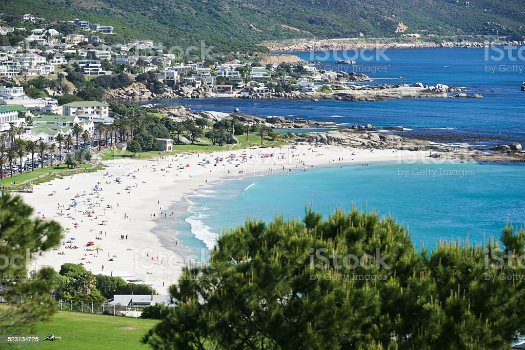Camps Bay near Cape Town stock photo