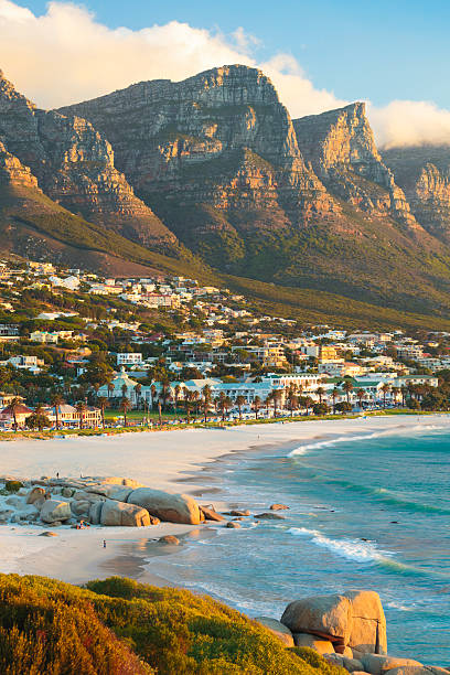 Camps Bay near Cape Town, South Africa stock photo