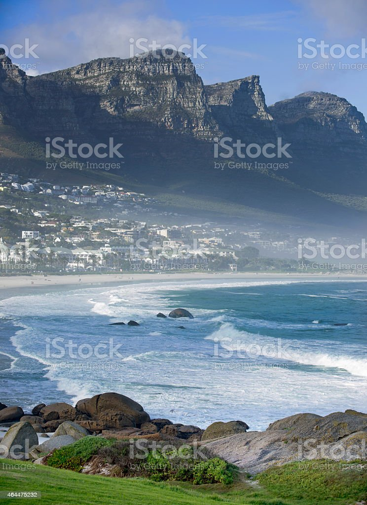 Camps Bay near Capetown stock photo