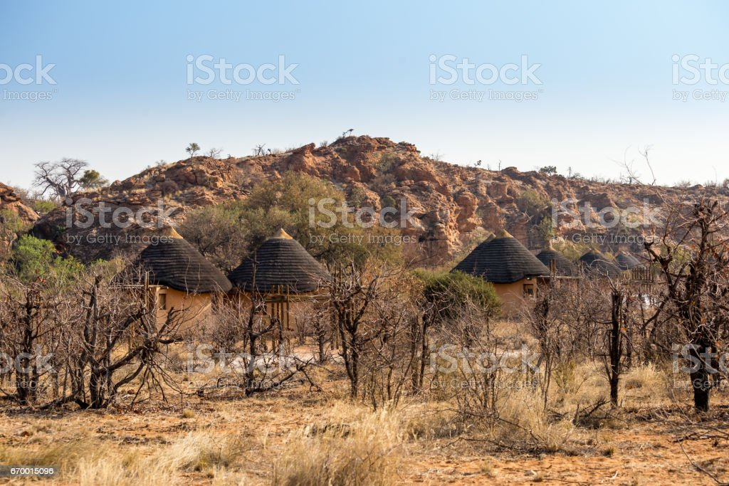 Campsite in Mapungubwe National Park, South Africa stock photo