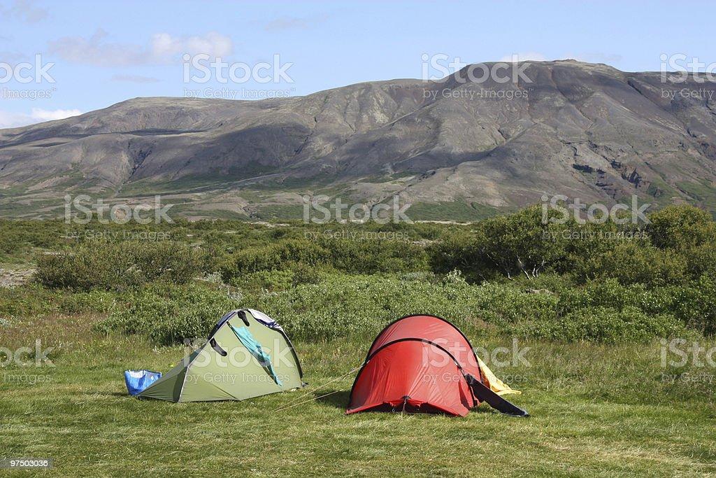 Campsite royalty-free stock photo