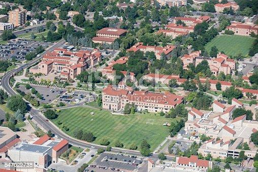 istock CU Campus Aerial; Boulder, Colorado 547022738