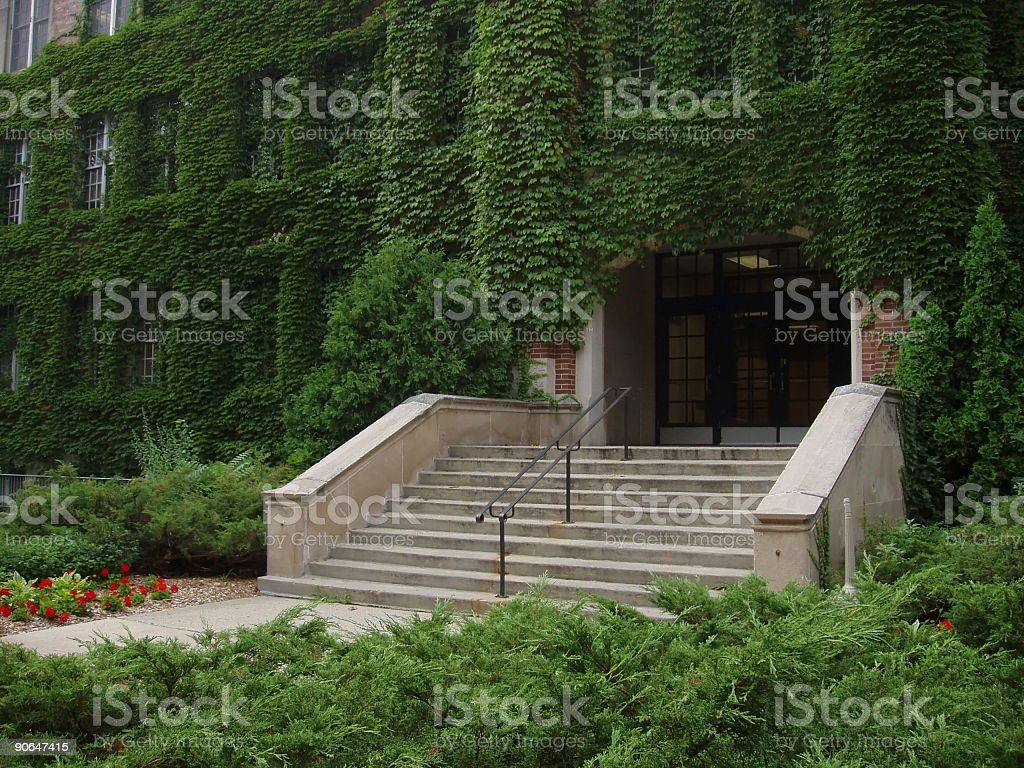 Campus Door stock photo