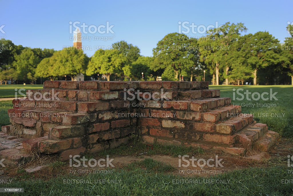 Campus green space steps royalty-free stock photo