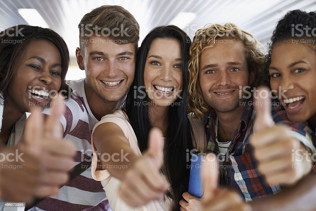 Campus life is great! stock photo